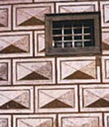 Drawing of stucco patterning