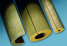 Illustration of mineral fiber pipe insulation