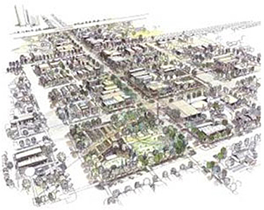 Drawing of Greensburg, KS Master Plan