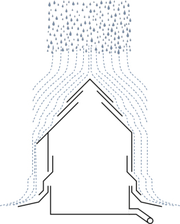 Illustration of the layering and overlap concept in flashing and shingling