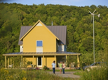 Green principles for residential design wbdg whole for Vermont farmhouse plans
