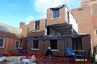 steel modular and brick veneer at Yale University