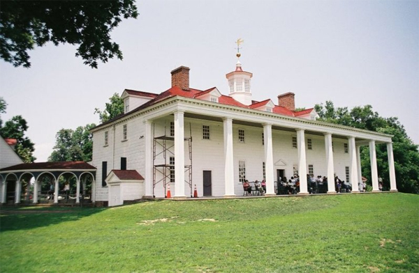 Photo of main house at Mount Vernon