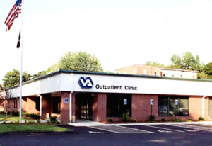 Exterior photo of the VA Springfield Community-Based Outpatient Clinic, Springfield MA