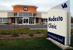 Exterior photo of the VA Modesto Community-Based Outpatient Clinic, Modesto CA