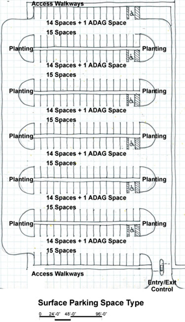light parking lot dimensions diagram