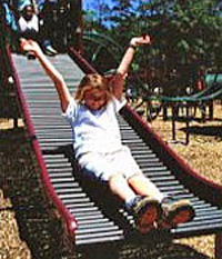 Photo of children on a slide