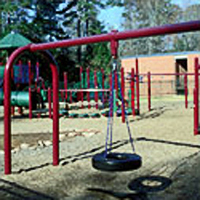Playground Swing Zone showing a tire swing