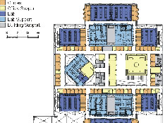 Floorplan of Building 4, Chiron Corporation Emeryville Campus Expansion Project-Emeryville, CA