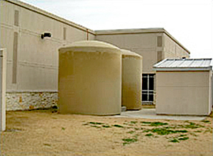 Fort Worth Text Post Office with rainwater catchment basins