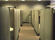 Photo of beige cubicle environment