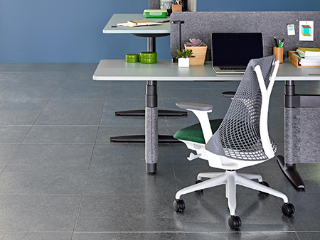 Ergonomic office chair and adjustable work table