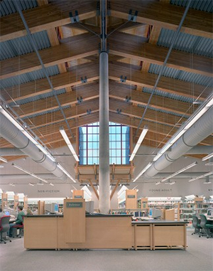 Photo of the reference desk at Issaquah Public Library-Issaquah, WA