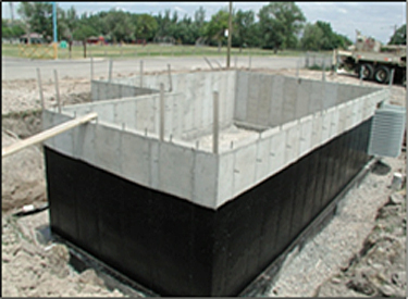 Photo depicting the foundation preparation