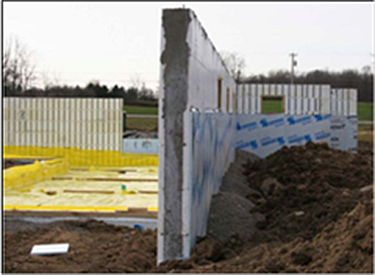 Photo of a frost protected shallow foundation
