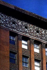 Photo detail of Louis Sullivan's Wainwright Building in St. Louis, MO