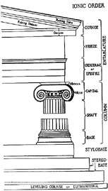 Illustration of ionic order style