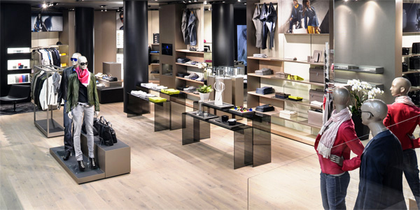 Retail space with an integrated CCTV system