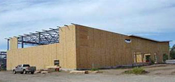 SIPs used as infill with a structural steel frame, Silvis School, Illinois