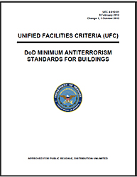 cover of the document UFC 4-010-01 DoD Minimum Antiterrorism Standards for Buildings