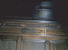 Photo of an elevator cab with character defining features