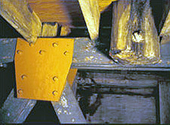 Photo of a wood brace