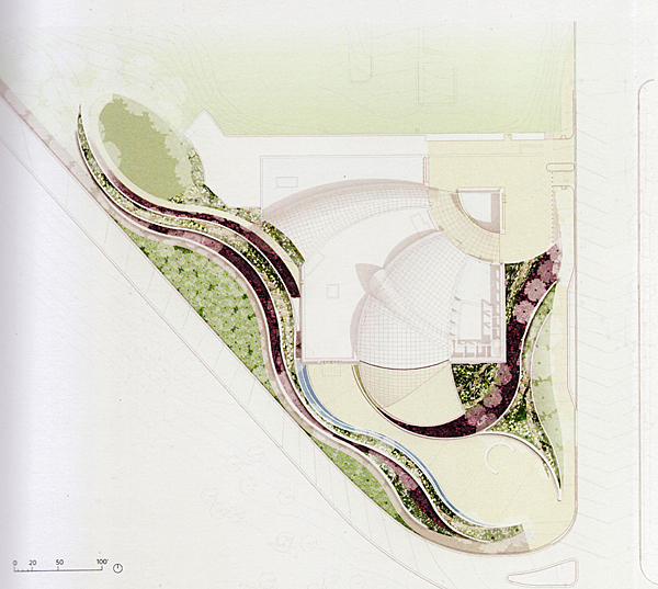 landscape plan of the Institute of Peace, Washington DC