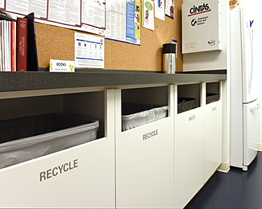 recycle and waste areas, Institute of Peace, Washington DC