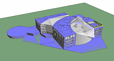 thermal model of design energy case, Institue of Peace, Washington DC