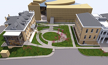 Rendering of the Building 6 expansion and renovations, Institute of Peace, Washington DC