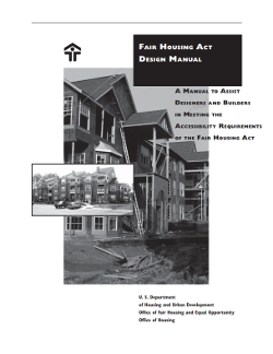 Fair Housing Act Design Manual